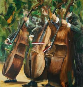 Three basses